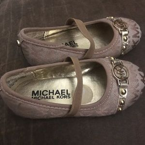 Baby size 7 Michael Kors shoes